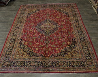 Nice Antique Traditional Rare Kashmar Persian Rug Oriental Area Carpet 10X13
