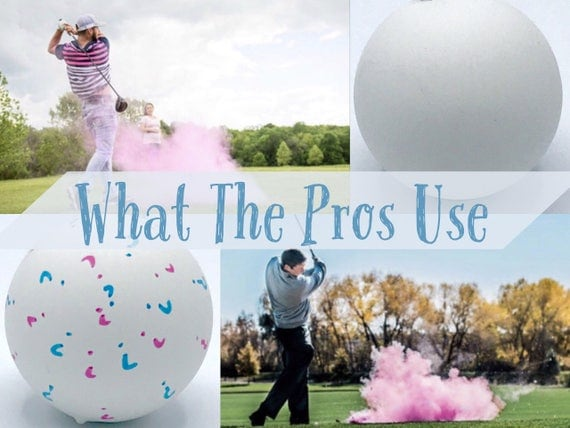 GOLF BALLS Gender Reveal Balls Pack (Custom Color Combinations and Styles)