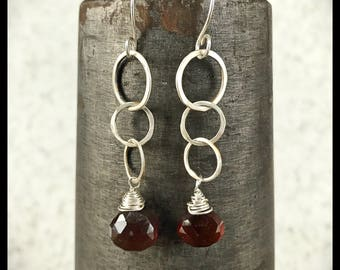 Binding Links with smoky quartz -earrings