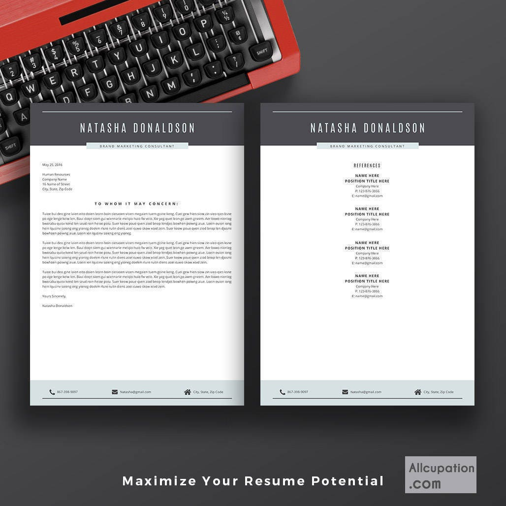 Creative Resume Template For Word | CV Template | Cover Letter | 5 Pages  Resume |