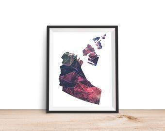 Northwest Territories Geometric - 8x10 Northwest Territories Print, Northwest Territories Printable, Canada Print, Printable Wall Art