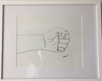 Framed Drawn Rock, Paper Scissors