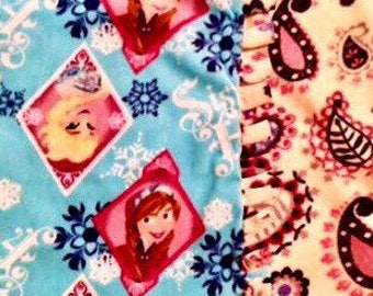 SisTerS R 4Ever N Disneys FroZen! handmade fleece blanket designed by JAX. Themed after Disneys Movie Frozen its a princesses dream throw!!