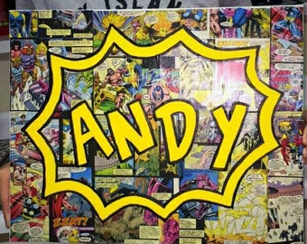 PERSONALIZED COMICBOOK CANVAS personalized with your own name or saying