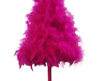 """32"""" Fuschia """"American"""" Feather Tree"""