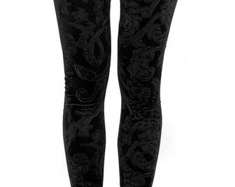 HIGH RISE FIT velvet leggings