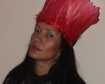 Red Feather Crown or Red Feather Crown Burning man