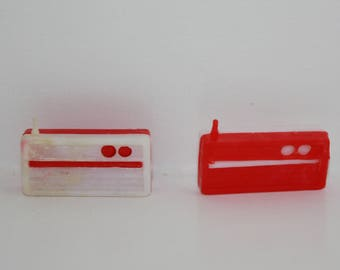 Vintage Red & White Transistor Radios for Barbie Ken Skipper Tammy Dolls