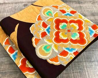 """New Item K121804 Kimono Belt """"Fukuroobi"""" Vintage"""