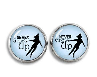 Peter Pan Stud Earrings Peter Pan Never Grow Up Earrings Peter Pan Jewelry Neverland Cosplay Fangirl Fanboy