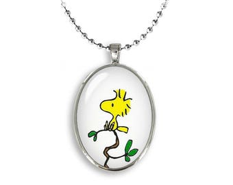 Woodstock Oval Pendant Woodstock Peanuts Necklace Snoopy Jewelry Cosplay Fangirl Fanboy