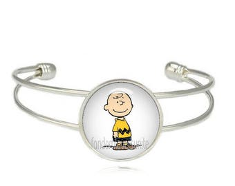 Charlie Brown Cuff Bangle Bracelet Charlie Brown Fandom Jewelry Cosplay Fangirl Fanboy