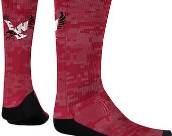 Men's Eastern Washington University Digital Sublimated Socks