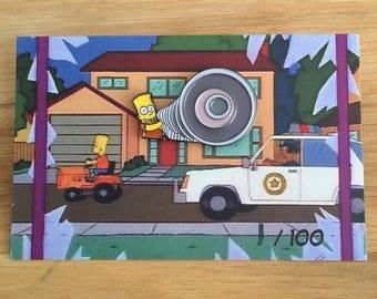 Megaphone Bart Simpson enamel pin badge simpsons