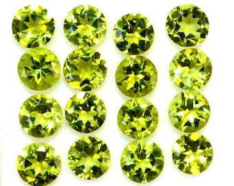 25 pieces 5mm PERIDOT Faceted Round Gemstone - Peridot round faceted - Round Faceted Peridot loose gemstone - Peridot Faceted Round Gemstone