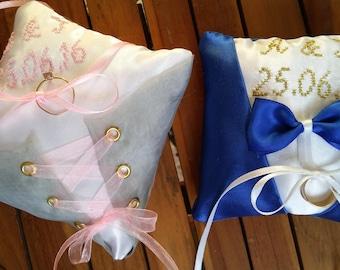 Two Mini pillows wedding Corset and Costume set