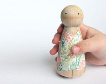 Mini Me Custom Peg Doll (girl) Birthday Cake Topper