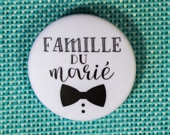 Wedding groom badge