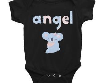Newborn Baby Shirts | Koala Bear Angel Infant Bodysuit