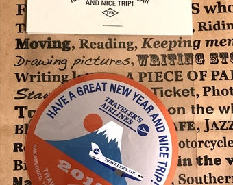 Traveler's Factory 2018 New Year Event Original Sticker Mt.Fuji Traveler's Notebook Limited Rare Designphil Made in Japan Not for sale