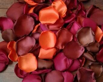 Fall rose petals, fall wedding, fall wedding decor, wedding decorations, mixture of fall rose petals, flower girl petals, rustic wedding.