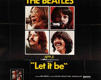 "Let It Be (1970) Original Six-Sheet Movie Poster - 81"" x 81"""