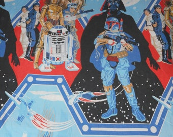 2 Full Size 70s Star Wars The Empire Strikes Back Bed Sheets