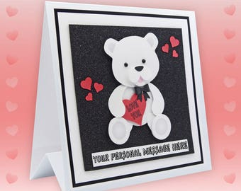 Valentine Card Husband  Personalised Valentine Card For Him, For Her, Wife Valentines Card Girlfriend Valentines  Boyfriend Valentines Bears