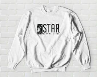 STAR Labs Sweatshirt - Star Laboratories, S.T.A.R. Lab, The Flash, Sweater, Sweatshirt, Crew Neck, Crewneck, Pullover, Unisex
