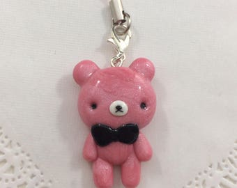 Simple Kawaii Teddy Bear Charm