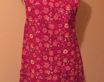 Pink Floral Lined Apron