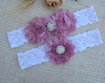 Garter Pink Flower, Glitter Garter Set, White Pink Garter, Pink Garter, Wedding Garter, Keep Garter, Nude Pink Garter, White Bridal Garter