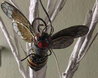 Beautiful Bumblebee Christmas Ornament