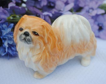 Vintage Pekingese Dog Figurine by Sylvac Pottery Ornament