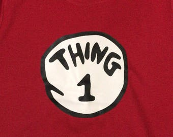 Dr Seuss T shirt Thing 1
