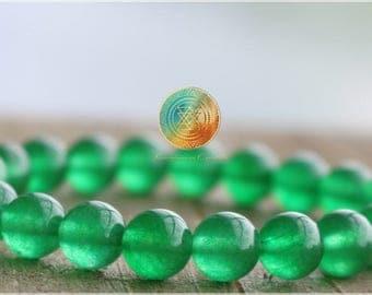 Jade Bracelet, Heart Chakra, 8mm Green Jade Bracelet, Luck, Wealth, Prosperity,healing bracelet,Woman/Man bracelet,Emerald Green,Abundance