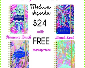 Lilly Pulitzer Agenda 2017-2018 Free Monogram included
