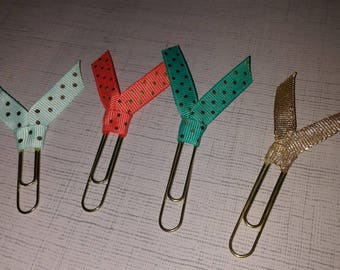 4 Ribbon Paperclips
