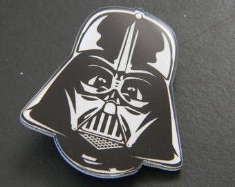 Acrylic Japanese Kawaii Darth Vader Icon Badge Pin - Mechanical Series Kawaii Plastic Backpack Costume Pins - Darth Vader Head Pin Badge