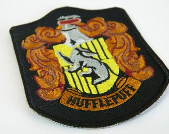 Harry Potter Hogwarts School Hufflepuff House Iron-On Embroidery Patch - Harry Potter Hufflepuff Embroidery Clothing Adhesive Iron-On Patch