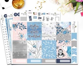 WINTER WONDERLAND Planner Stickers Planner Stickers for the Erin Condren Planner/Winter Weekly Planner Sticker Kit/Sticker Set/Functional