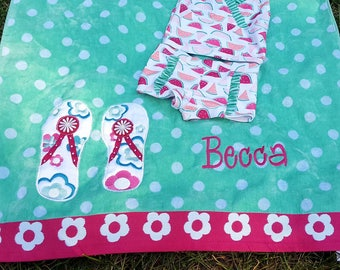 Monogrammed beach towel,name beach towel,custom beach towel,personalized beach towel,graduation towel,kid beach towel,pool towel,pool party