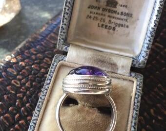 Stunning amethyst dress ring Sterling Silver