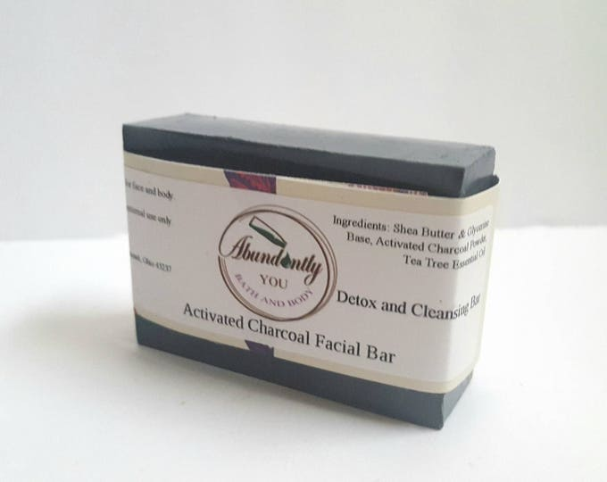 Activated Charcoal Facial Cleansing Soap Bar | Approximately 3.7 oz | Face and Body