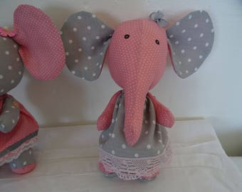 Pink and gray elephant