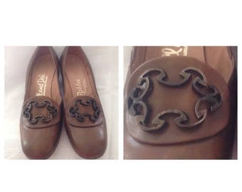 On Sale Vintage Hill and Dale Ladies Tan Shoes