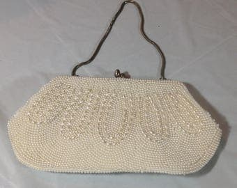 Beautiful Vintage Beaded Handbag