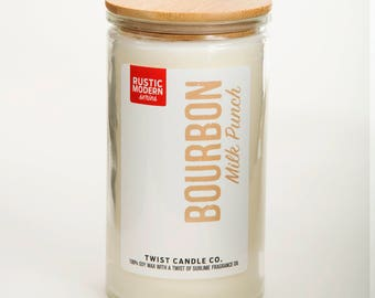 Bourbon Milk Punch 18oz Soy Wax Candle