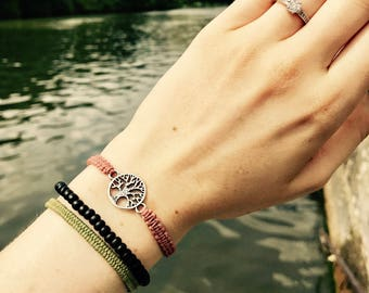 Bracelet with silver tree of life