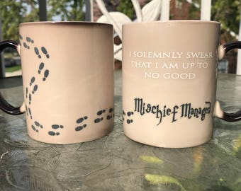 SALE Harry Potter Mug, Color Changing Mug, I Solemnly Swear I'm Up To No Good, Harry Potter Coffee Cup Magic Mug